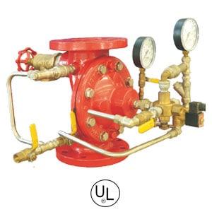 Deluge-valve