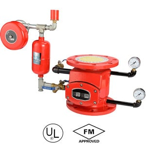 Flanged-alarm-check-valve